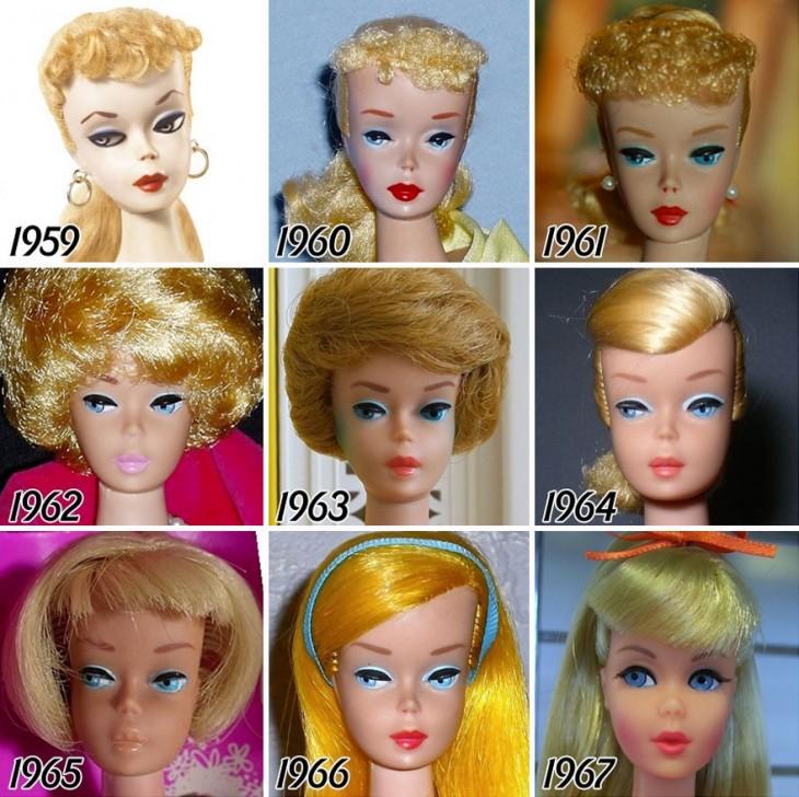 Inicios de la barbie en 1959