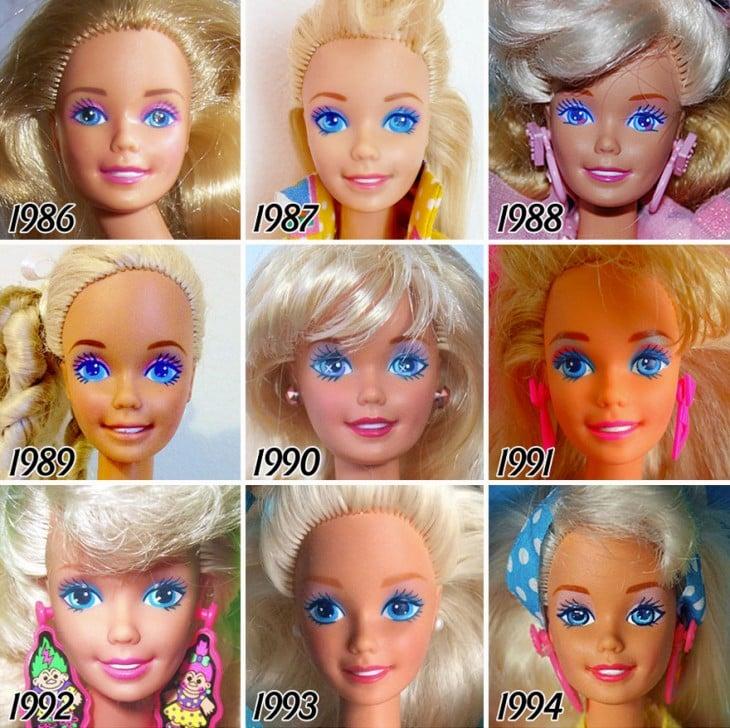EVOLUCIÓN DE LA BARBIE EN 1986