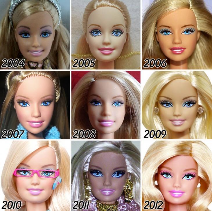 Evolución de las barbie a partir de 2004