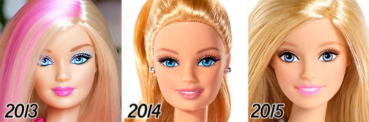 Evolução da barbie 2013-2015