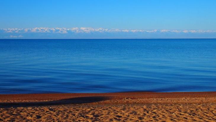 lago más cristalino y azul