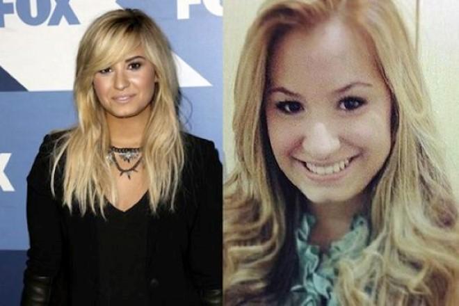 gemela de Demi Lovato cuando era gorda y sin cirugias