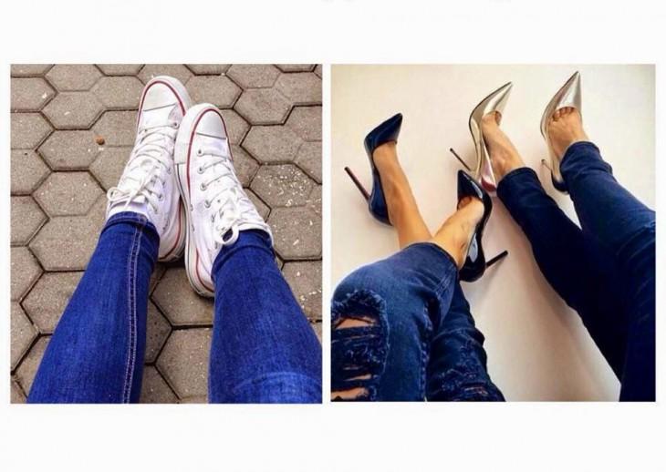 la diferencia entre mujeres tacones