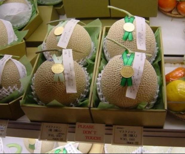 Los melones son muy costosos en Japón