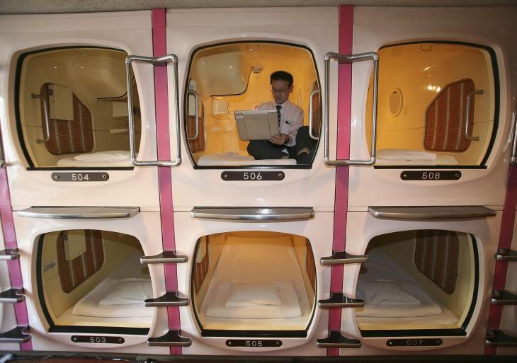 Hoteles cápsula, nueva tendencia de hoteles en Tokio, Japón