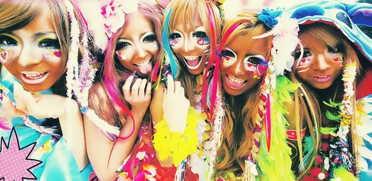 Chicas japonesas con la moda Blackface