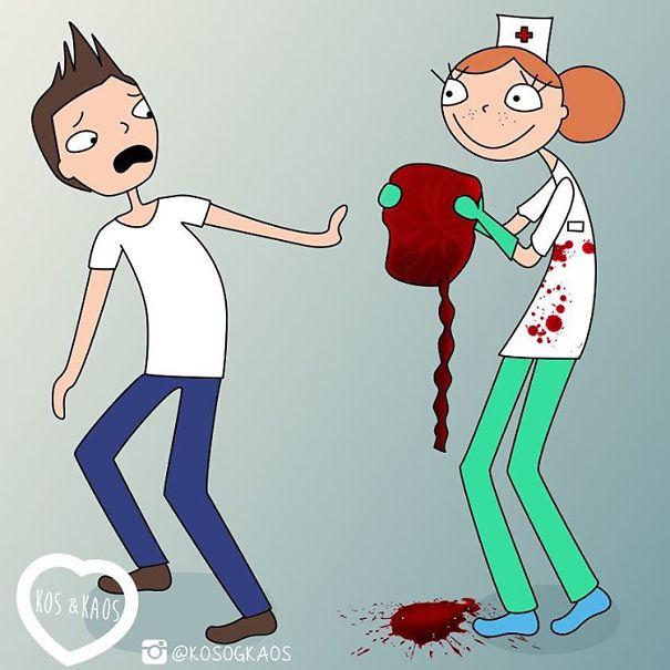 enfermera mostrando la placenta del bebé a su papá