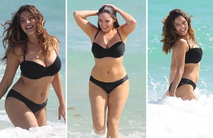 imágenes de Kelly Brook en bikini y en la playa