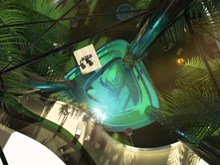 Diseño vertical de Kokomo Island: La isla flotante