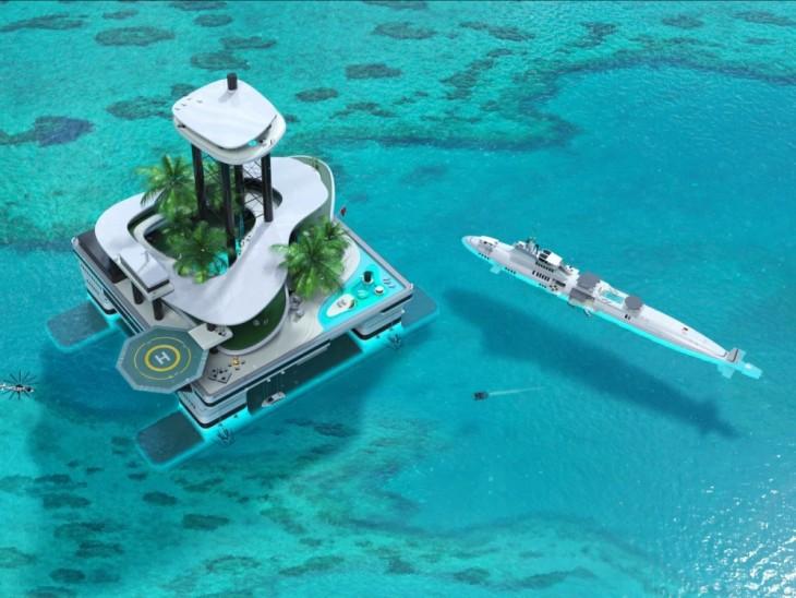 imagen que muestra el diseño de la Kokomo la isla flotante