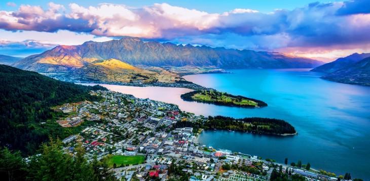 Foto panorámica de Nueva Zelanda