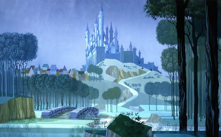 Castillo del Rey Estefano en la película de la Bella Durmiente