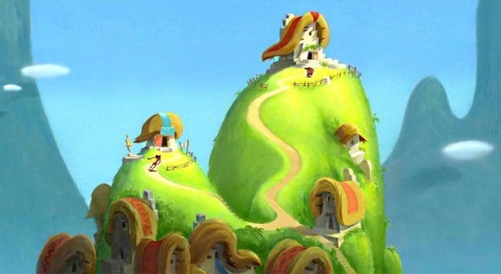 aldea de Pacha en Las locuras del emperador