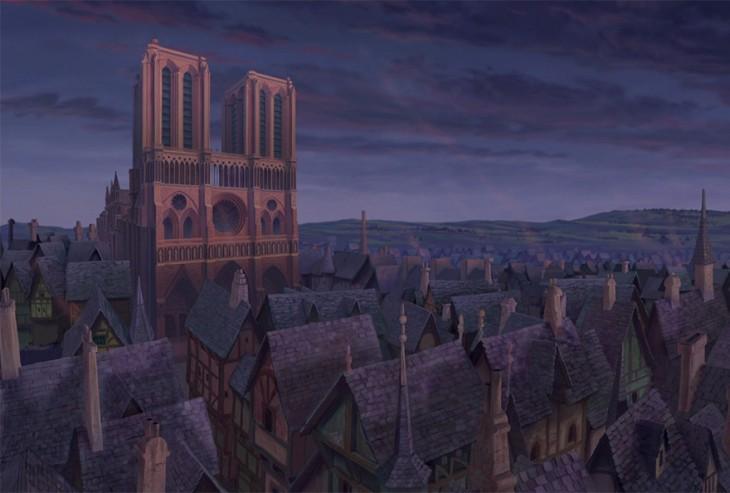 La catedral de la película del Jorobado de Notre Dame