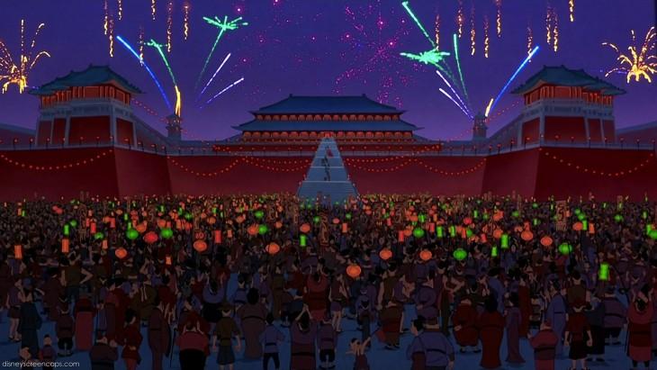 la casa del Emperador en la película Mulan