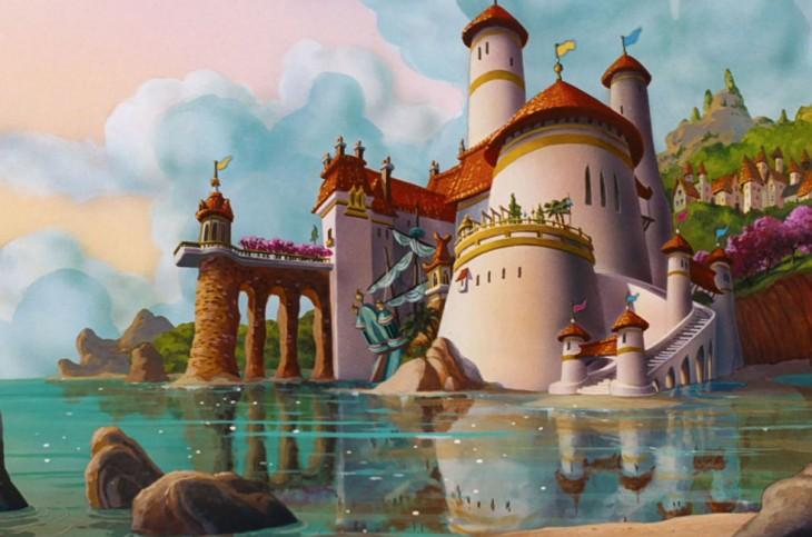 castillo del Príncipe Eric en La Sirenita