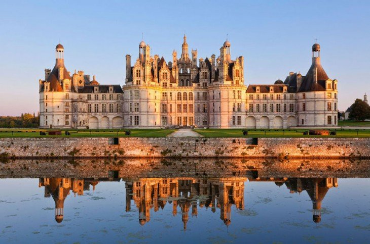 Castillo de Chambord en Loir-et-Cher, Francia