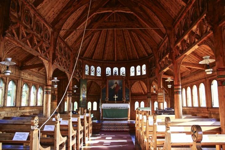 Iglesia de San Olaf en Balestrand, Noruega