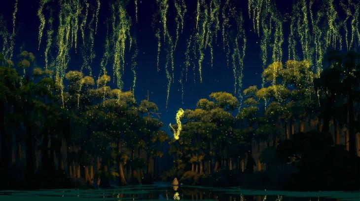 pantano de Nueva Orleans de la princesa y el sapo