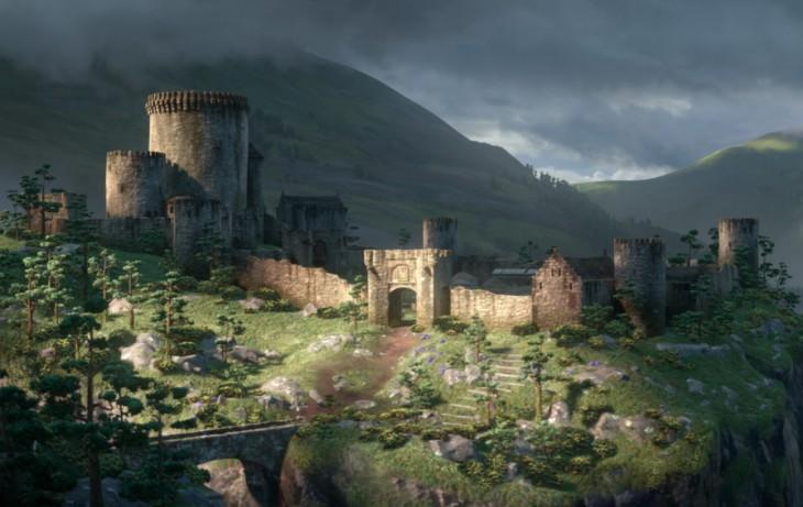 Castillo Real de la película Valiente
