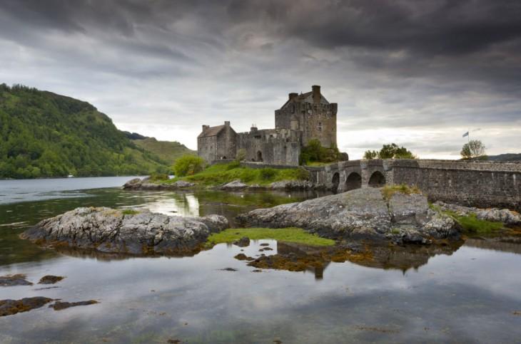 Castillo de Eilean Donan en Escocia, Reino Unido