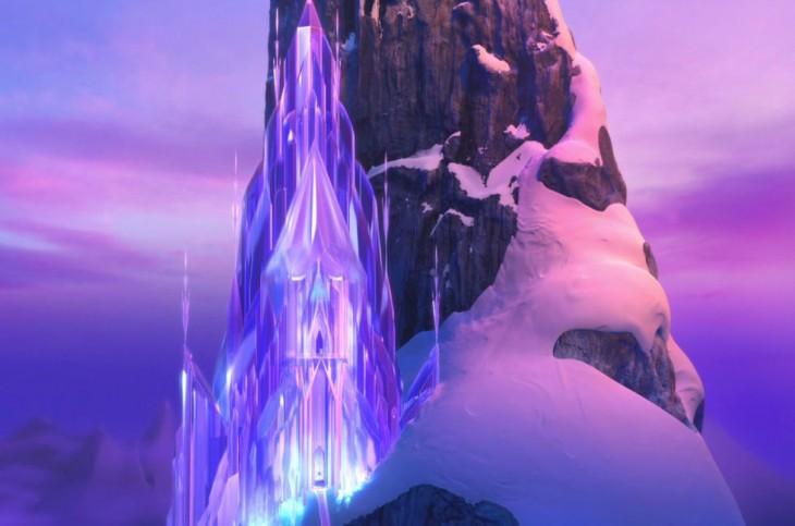 Palacio de hielo en la película de Frozen