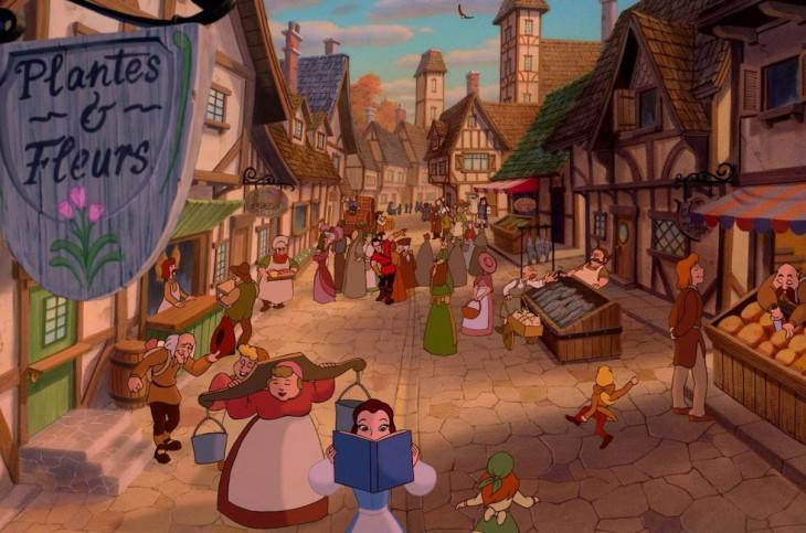 uno de los escenarios de la película La bella y la bestia