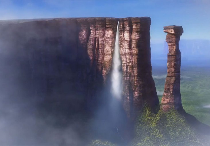 Cascada Paradise en la película Up