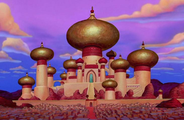 palacio del sultán en la película de Aladdin