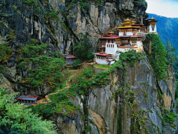 El monasterio Paro Taktsang en Bután
