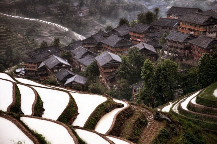 Mountain Village en China
