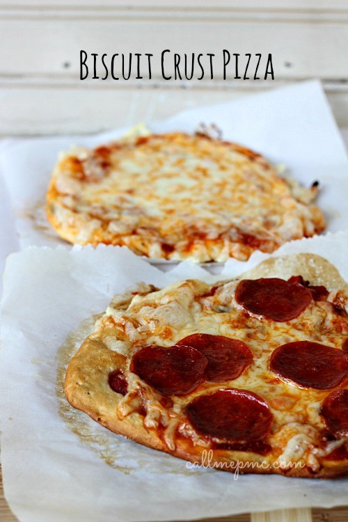 pizza con base de galletas biscuit