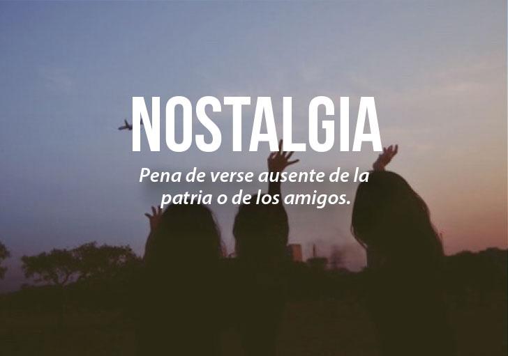 chicas a contra luz que definen la palabra nostalgia
