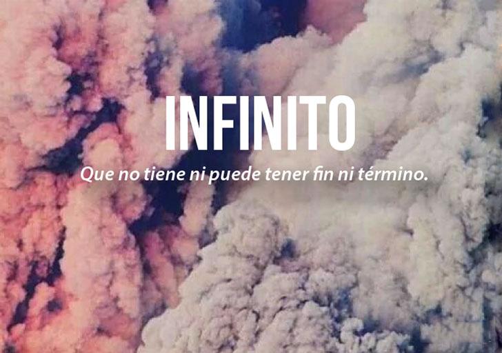 imagen con la definición de la palabra infinito