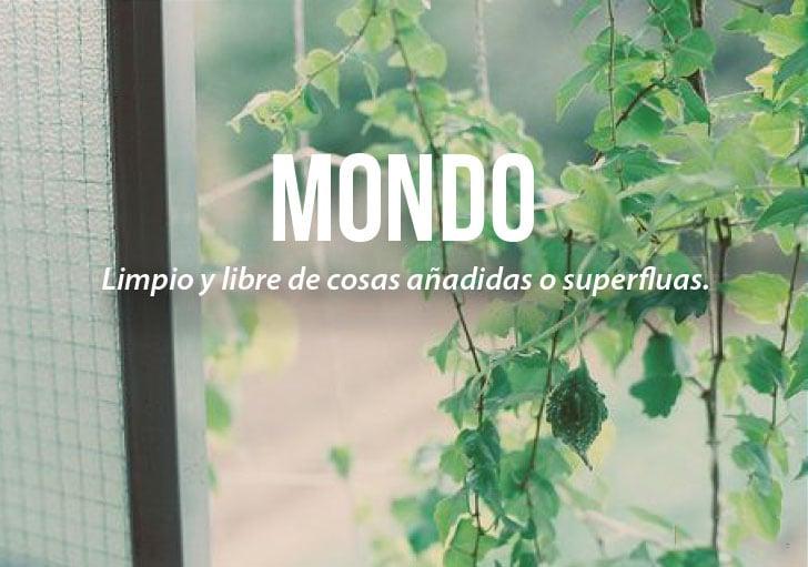 definición de la palabra Mondo