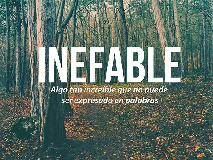 paisaje de un bosque con la definición de inefable