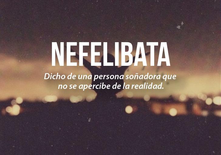 ilustración que define la palabra nefelibata