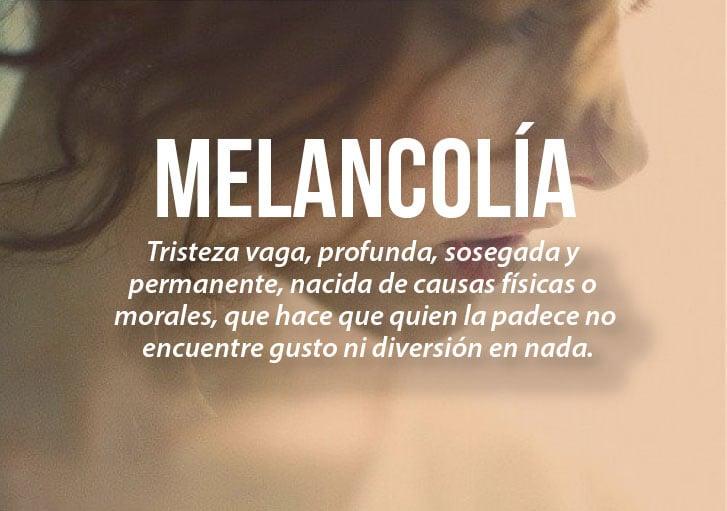 cara de una chica que tiene la definición de melancolía