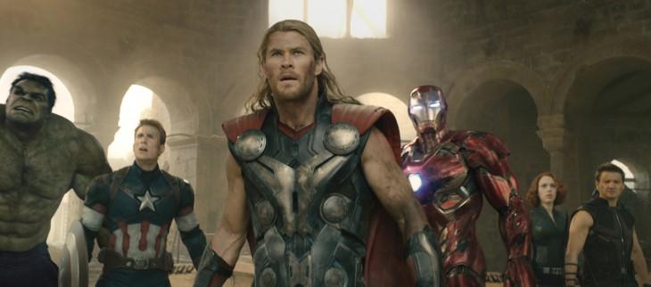 escena de la película de los avengers