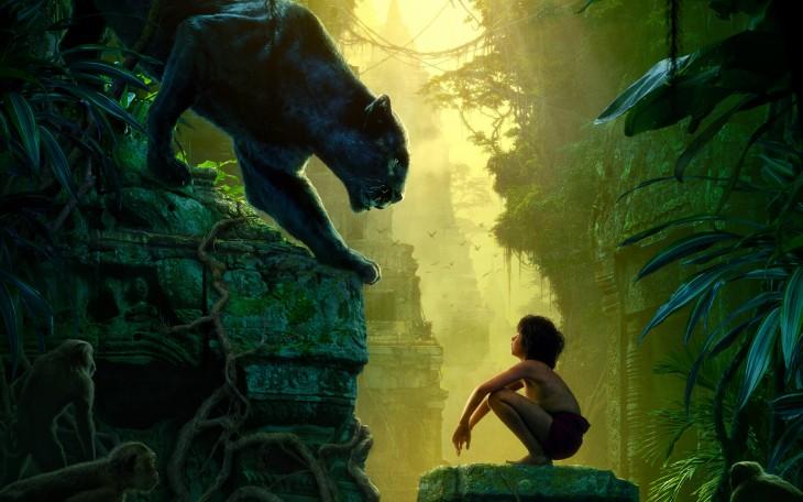 imagen de una escena de la nueva película de el libro de la selva