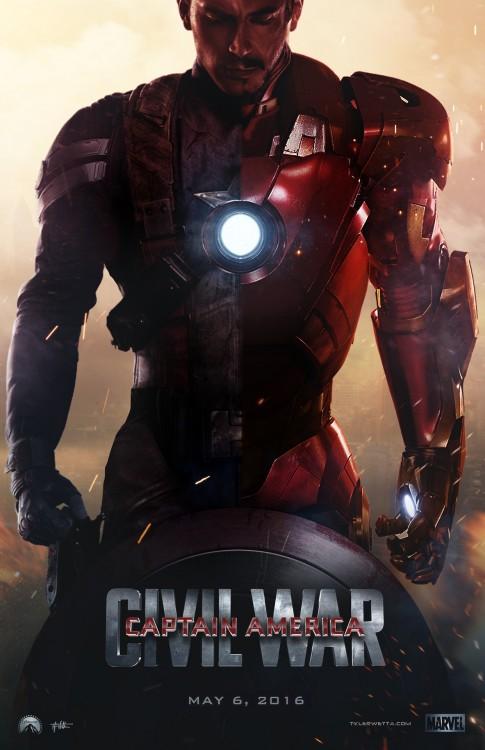 póster de la película Capitán América Guerra Civil