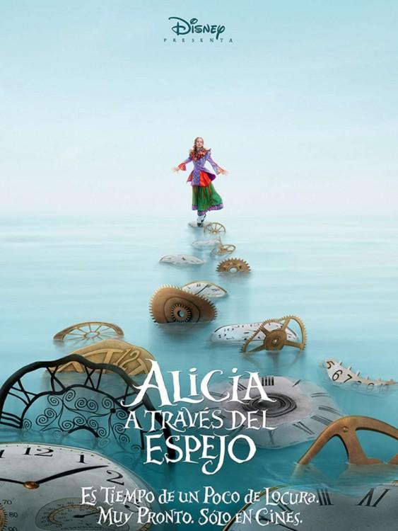 póster oficial de la película de Alicia a través del espejo
