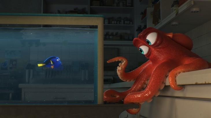 escena de la película de Buscando a Dory