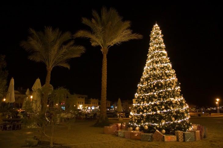 árbol de navidad en Egipto