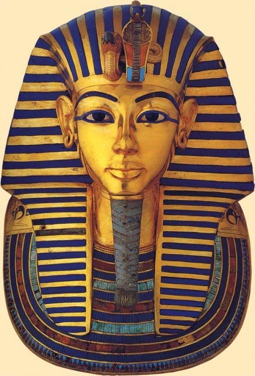 Tutankamón del año 1345 a. C. en Egipto