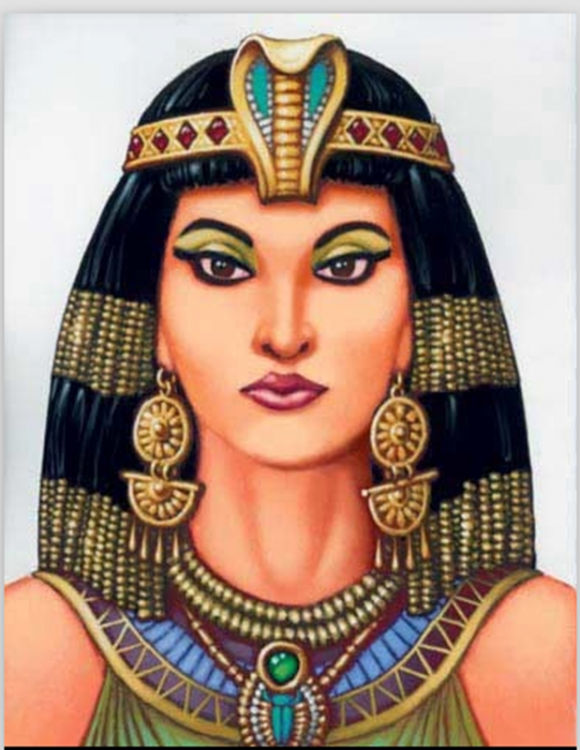 Cleopatra 69 A. c mujer famosa en Egipto, África