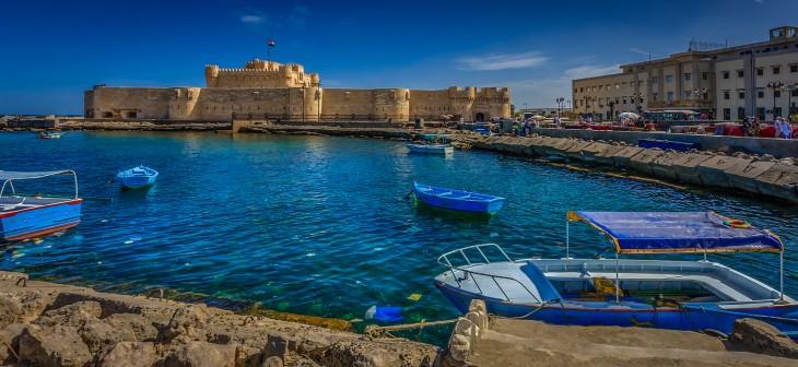 Fortaleza en Alejandría, Egipto