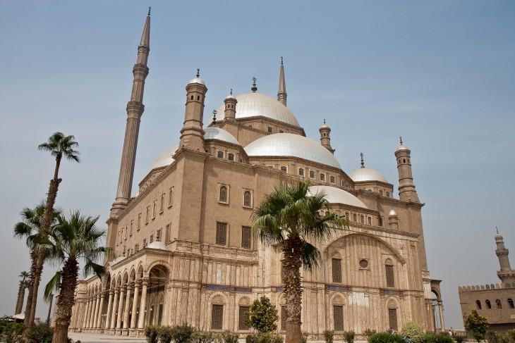 Mezquita Mohammed Ali ubicada en el cairo, egipto