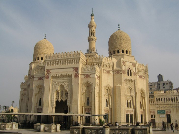 Mezquita Abu Al- Abbas Al-Mursi en alejandría, egipto