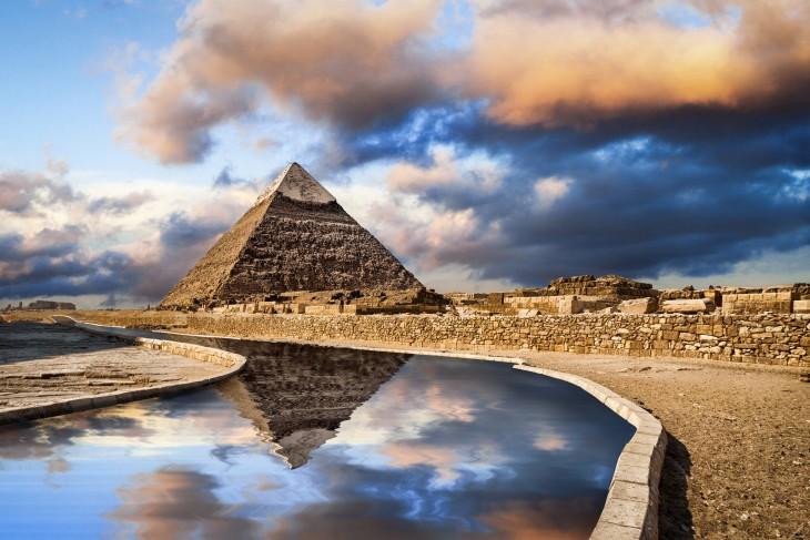 Pirámide en El Cairo, Egipto